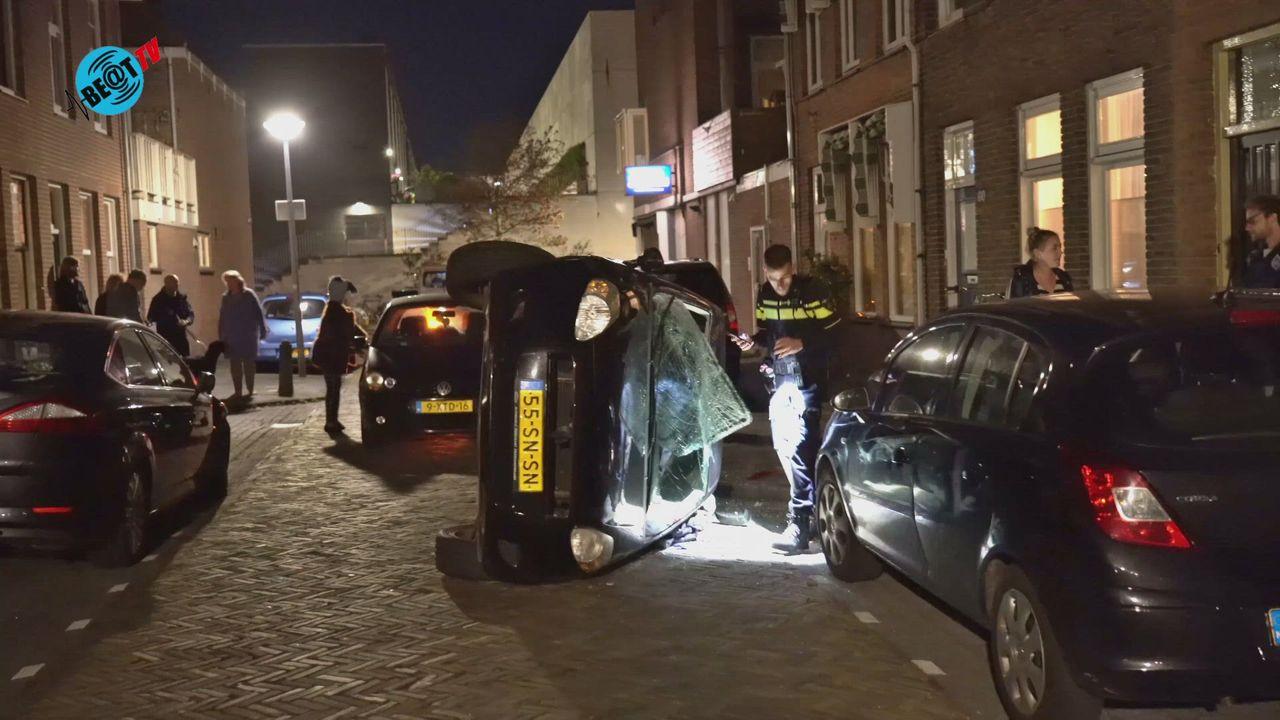 Man aangehouden na dollemansrit in Alkmaar met veel schade (18 oktober 2021)