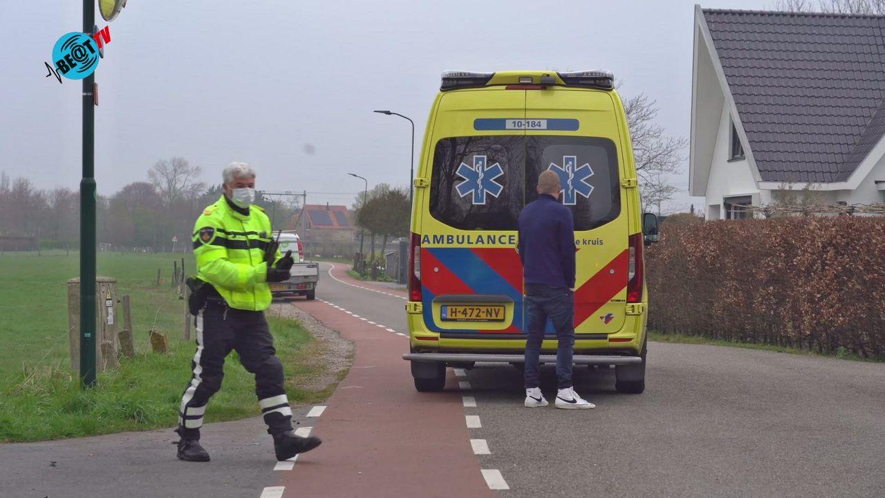 Scooterrijder gewond op Westerweg in Heiloo (21 april 2021)
